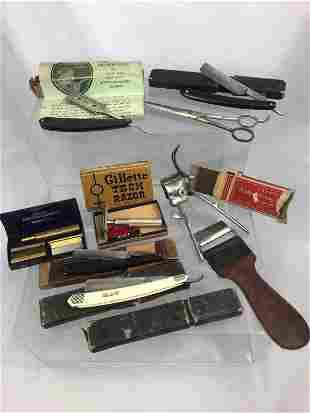 Lot of Vintage Barber Razors, Straight Blades ....