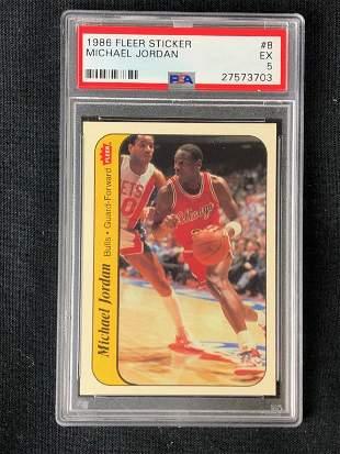 1986 Fleer Basketball Michael Jordan Sticker
