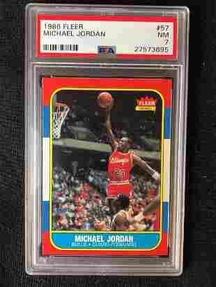 1986 Fleer Basketball Michael Jordan Rookie #57