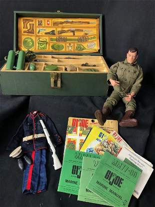 GI Joe Military Green Foot Locker Trunk & More!