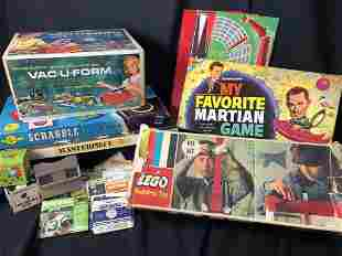 1960's-70's Vintage Game Lot  Incl. Legos