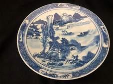 Blu&White Porcelain Master of the Rocks Platter