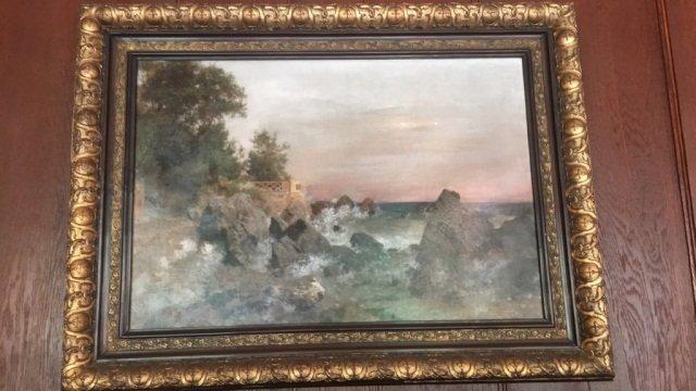 """"""" Schmid """" Signed Antique Painting Seascape"""