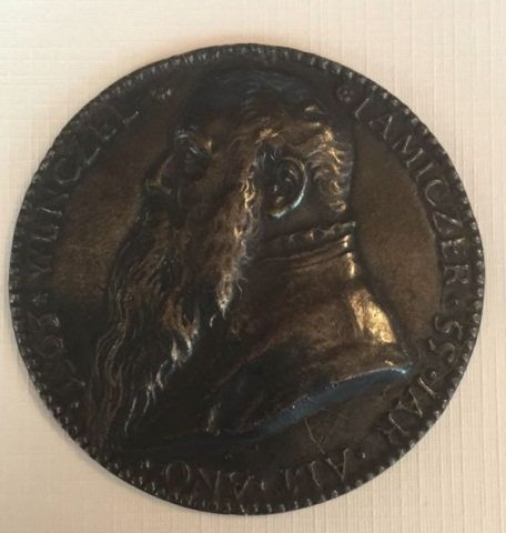 Antique Plaquette Portrait of Bearded Man