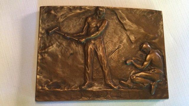 "Antique Bronze ""J. Taytenhayn"" Plaquette"