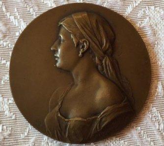 """Antique Bronze """"Scharff"""" Portfolio Plaquette"""