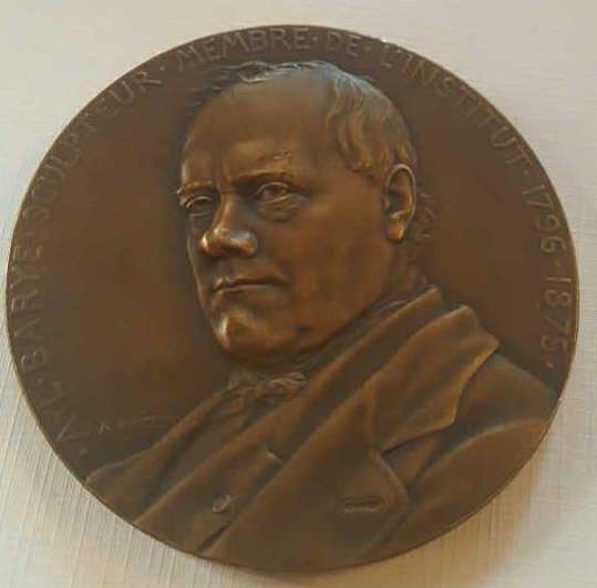 """Antique Bronze """"A. Patey"""" Plaquette"""
