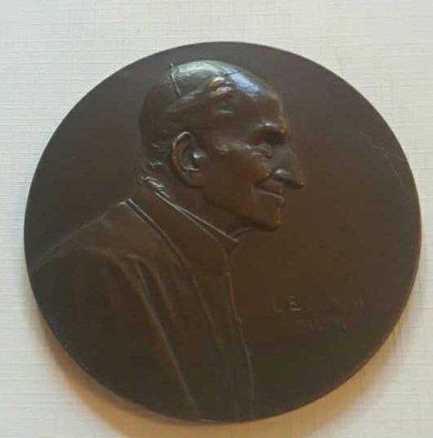 "Antique Bronze ""R. Marschell"" Plaquette"