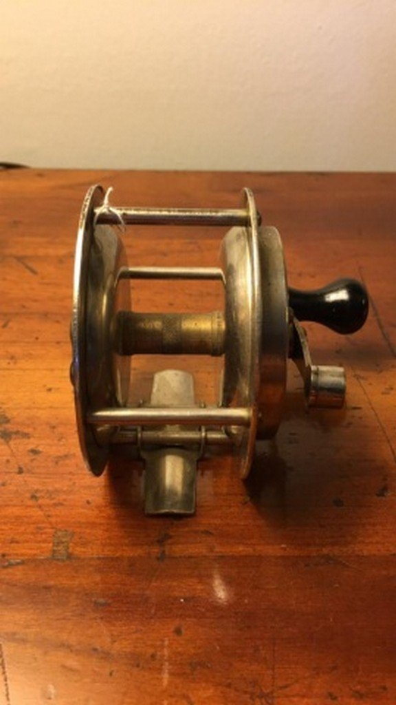 "Antique Brass Reel 3"" - 2"