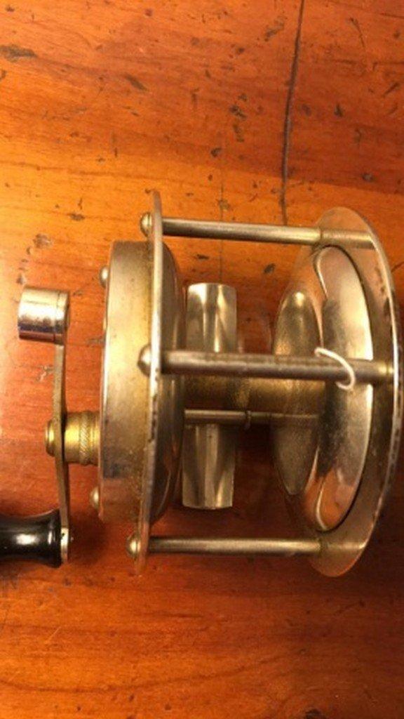 "Antique Brass Reel 3"" - 3"