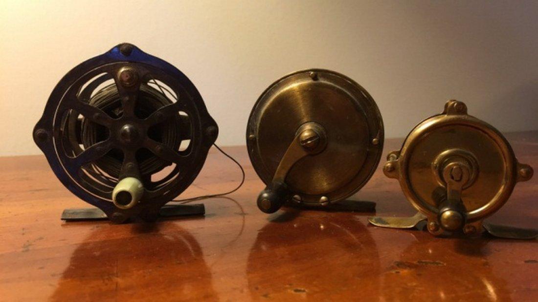 Lot of 3 Antique Reels