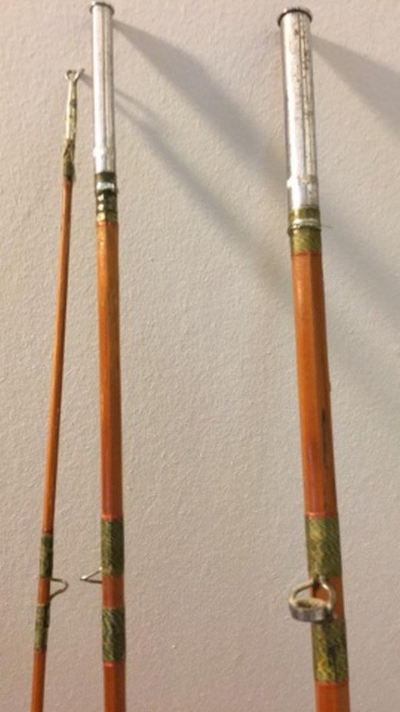 "Antique Craftsman 96"" Split Bamboo Fly Rod - 4"
