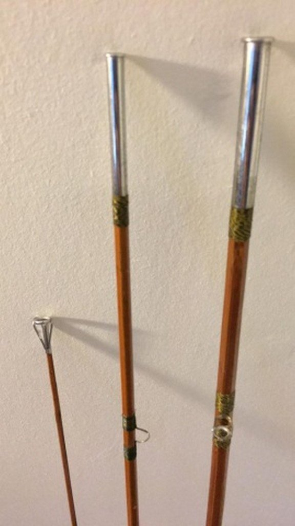 """Antique 102"""" Split Bamboo Fly Rod Unsigned - 2"""