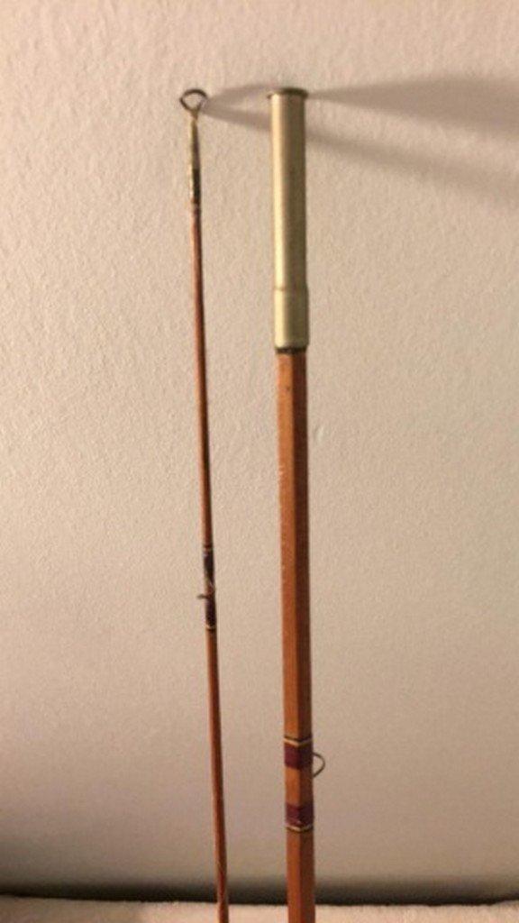 """Antique """"Dink"""" Davis Split Bamboo Fly Rod 102"""" - 5"""