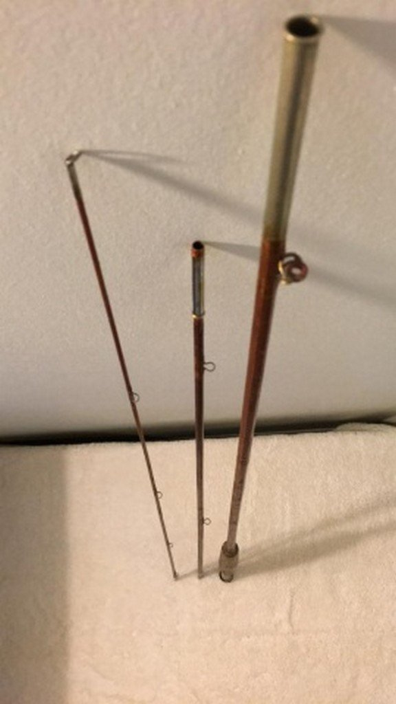 "Antique 100"" Split Bamboo Fly Rod"