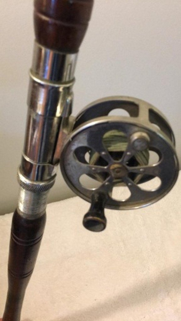 """Antique 70"""" Saltwater Rod and Reel - 5"""