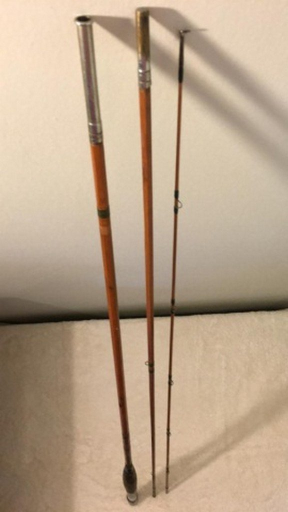 "Antique Colombia 108"" Bamboo Fly Rod"