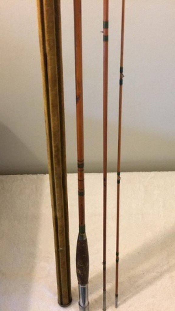 "Antique Colombia 108"" Bamboo Fly Rod - 2"
