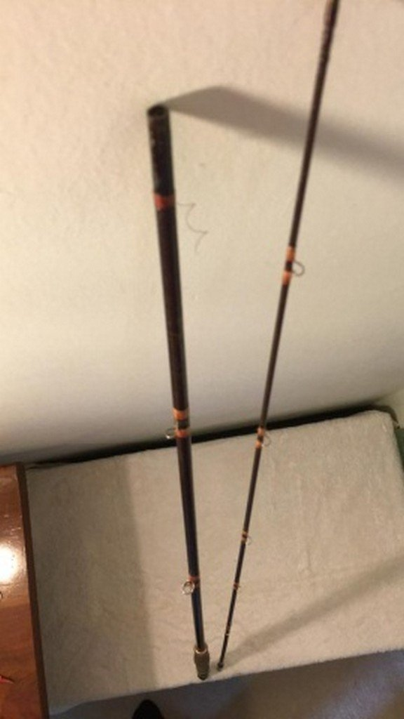"Antique Unsigned Fiberglass 90"" Fly Rod"