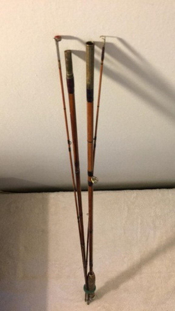 "Antique 108"" Bamboo Unsigned Fly Rod"