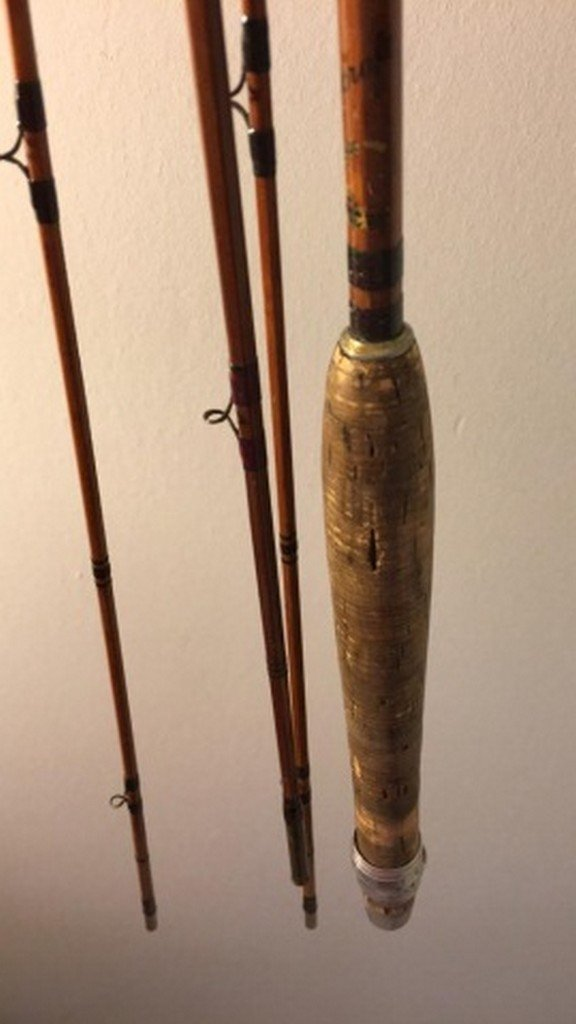 "Antique 108"" Bamboo Unsigned Fly Rod - 6"