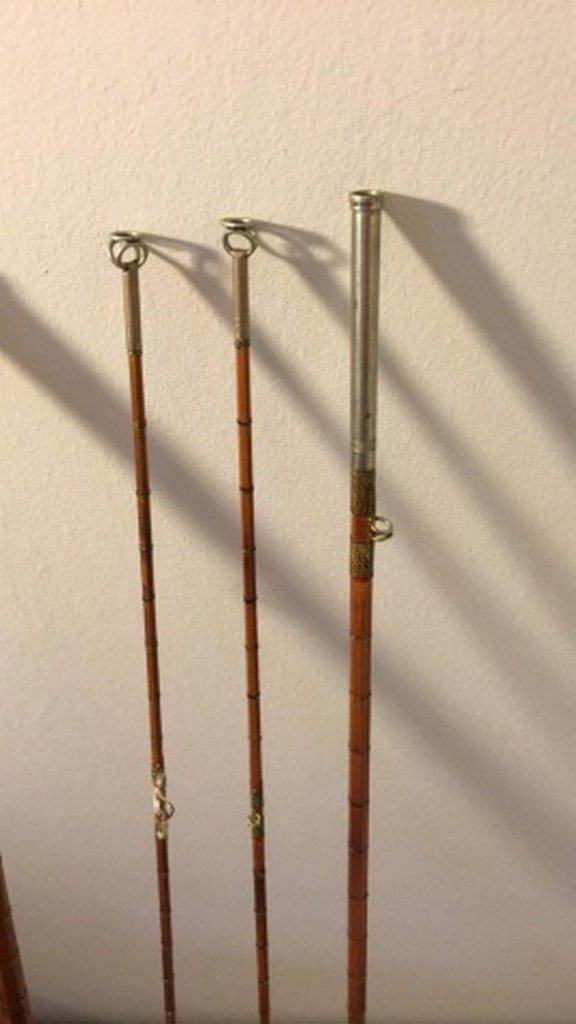 """Antique Unsigned 90"""" Bamboo Fly Rod - 4"""
