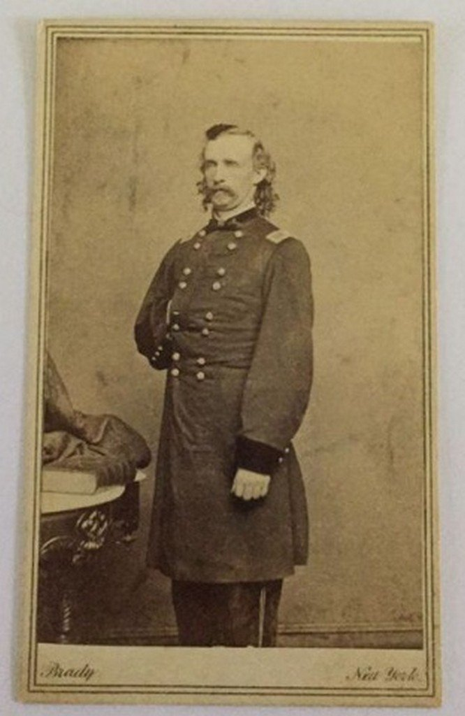 Antique Brady Photograph Gen. G.A. Custer