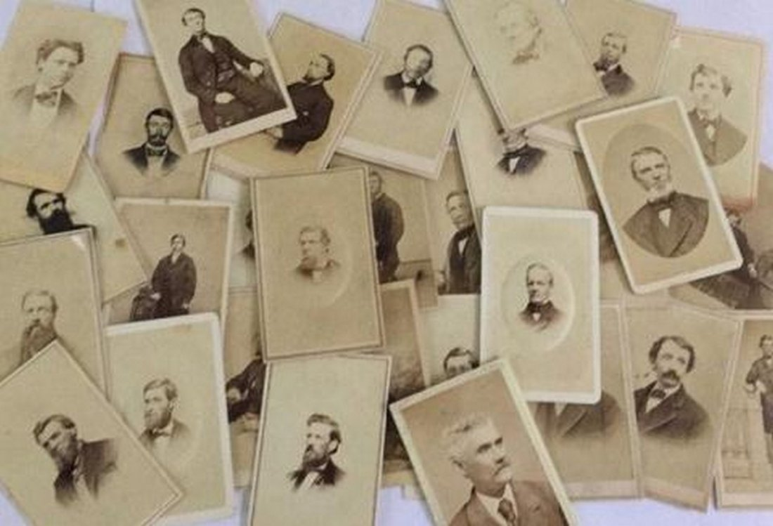 Lot of 27+ Antique Mostly CDV Photographs of Men - 2