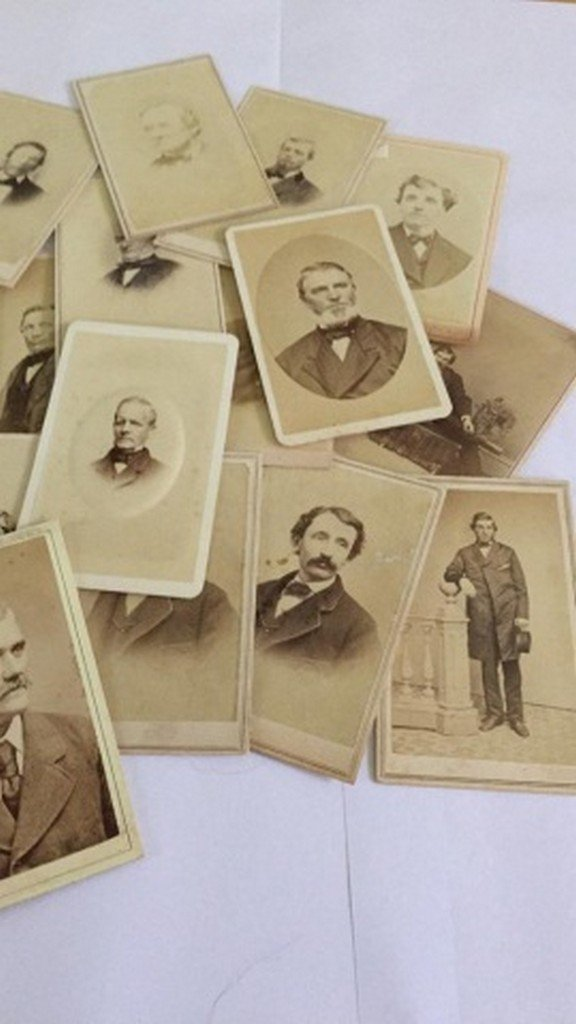Lot of 27+ Antique Mostly CDV Photographs of Men - 3
