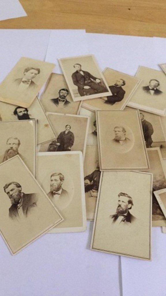 Lot of 27+ Antique Mostly CDV Photographs of Men - 5