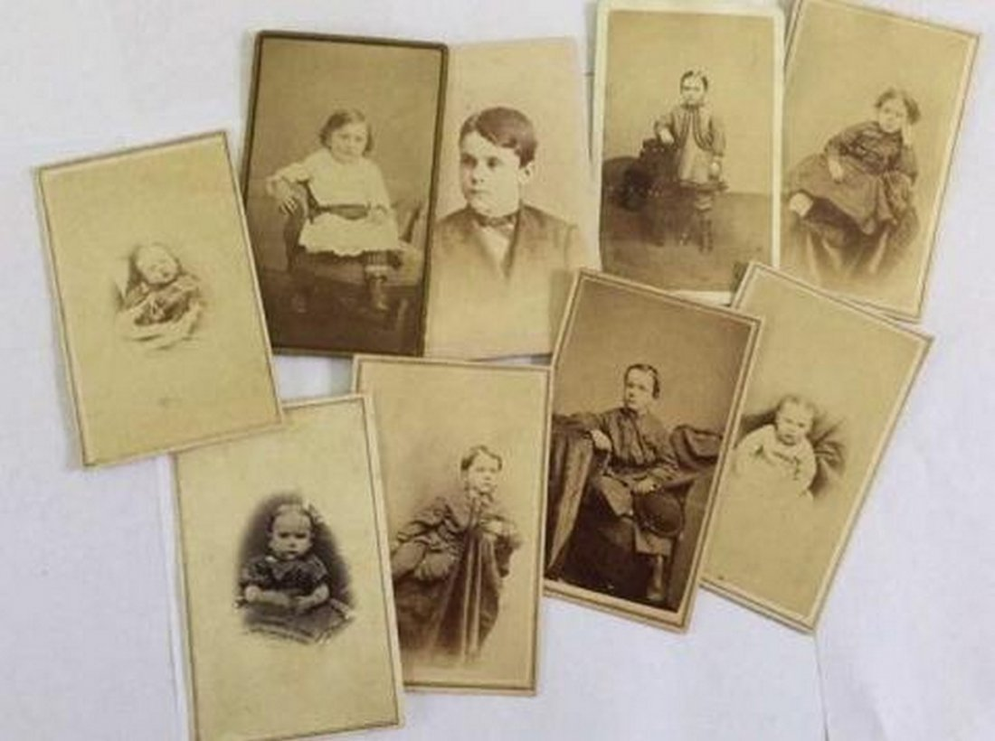 Lot of 8+ Antique Mostly CDV Photos of Children