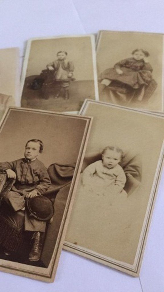 Lot of 8+ Antique Mostly CDV Photos of Children - 3
