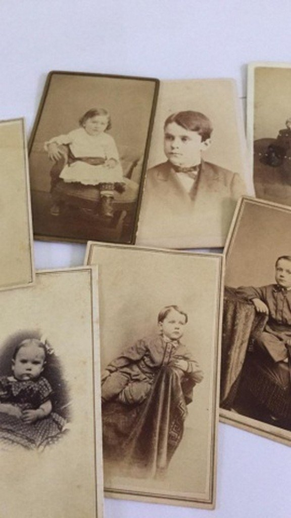 Lot of 8+ Antique Mostly CDV Photos of Children - 4