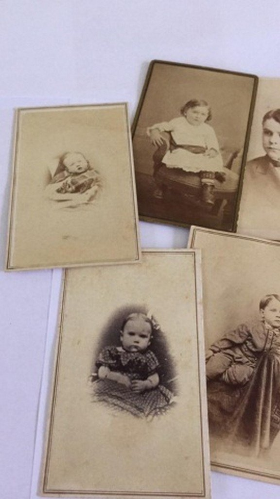 Lot of 8+ Antique Mostly CDV Photos of Children - 5
