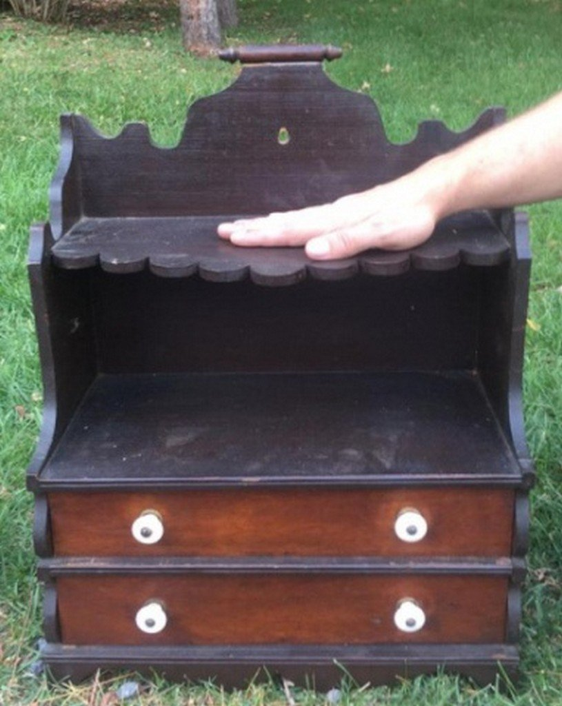 Antique Miniature Open Top Cupboard