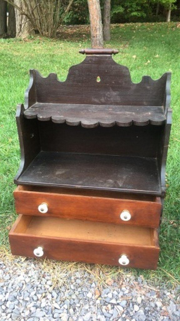 Antique Miniature Open Top Cupboard - 2