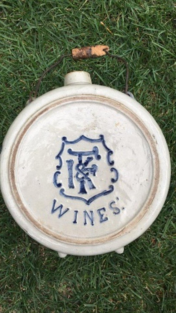 Antique Salt Glaze Stoneware Canteen
