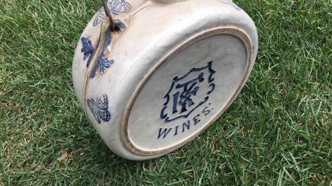 Antique Salt Glaze Stoneware Canteen - 2