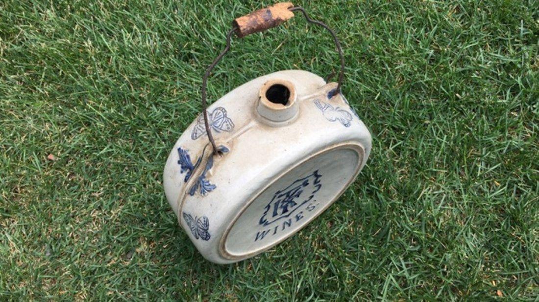 Antique Salt Glaze Stoneware Canteen - 3