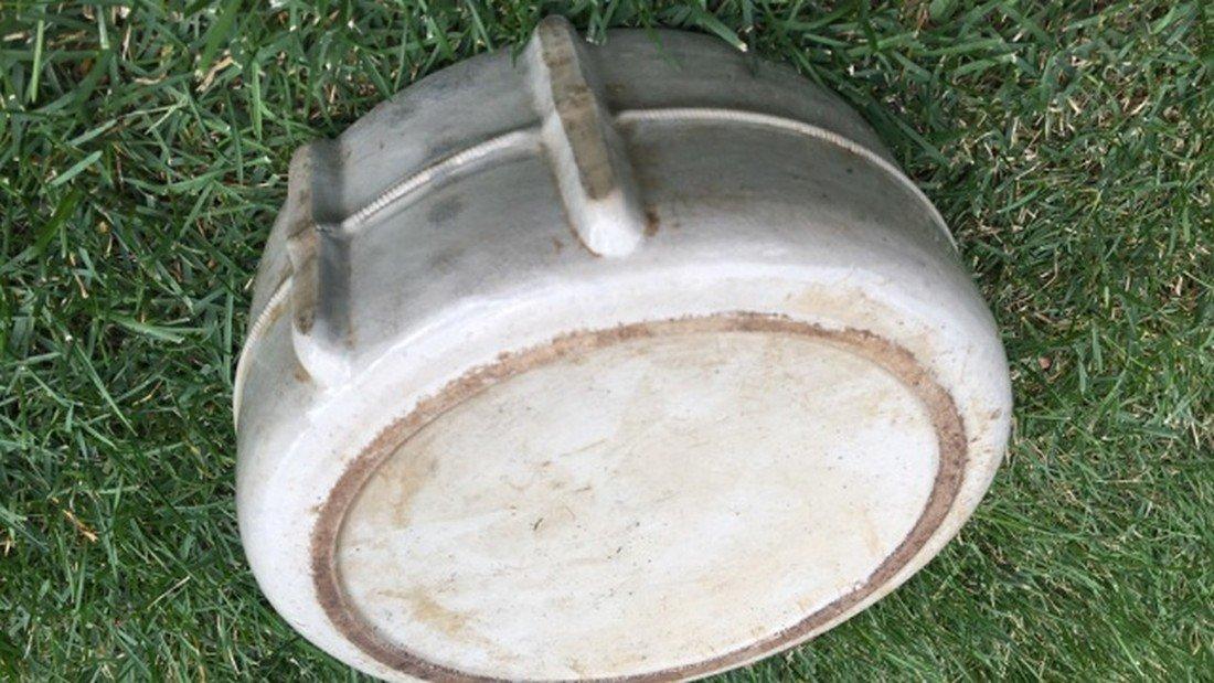 Antique Salt Glaze Stoneware Canteen - 5