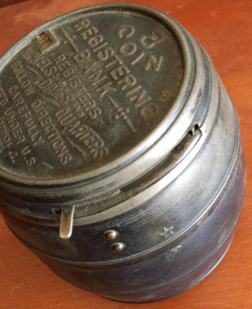 Antique Barrel Form Registering Bank - 5