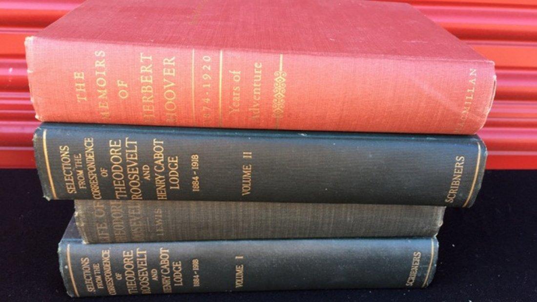 Lot of 4 Books Regarding Roosevelt & Hover