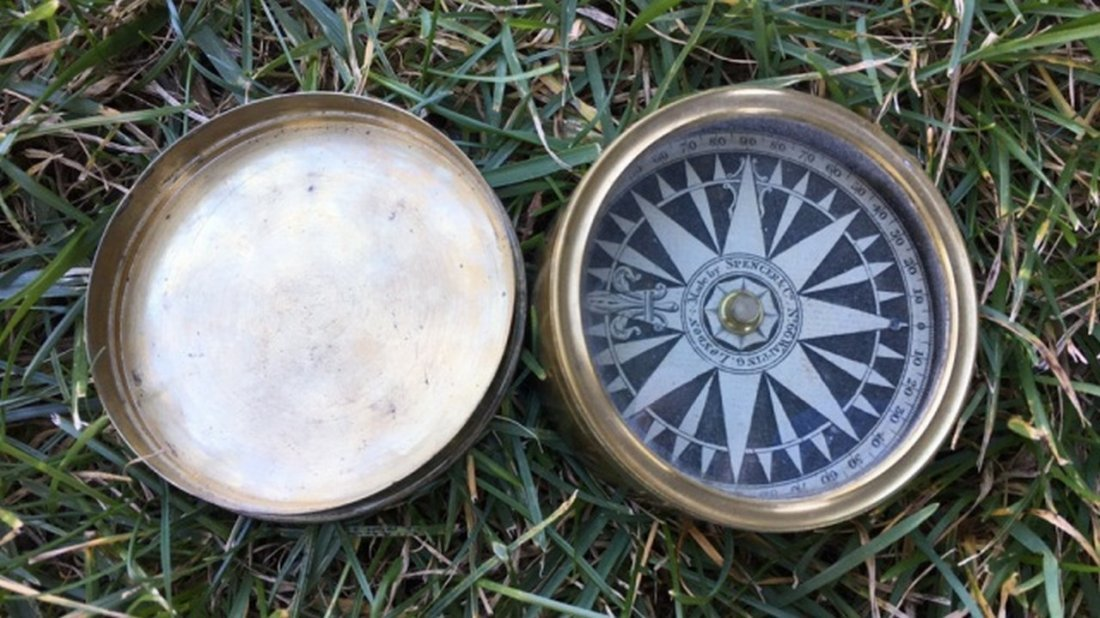 "Antique/Vintage ""Spencer & Co."" Compass - 4"
