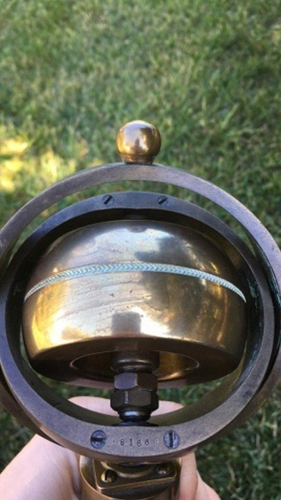 Antique/Vintage Brass Centrifugal Force Device - 4