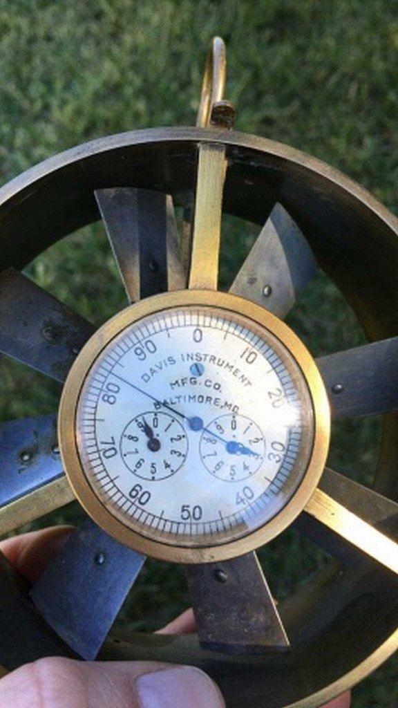 "Antique/Vintage ""Davis"" Anemometer"