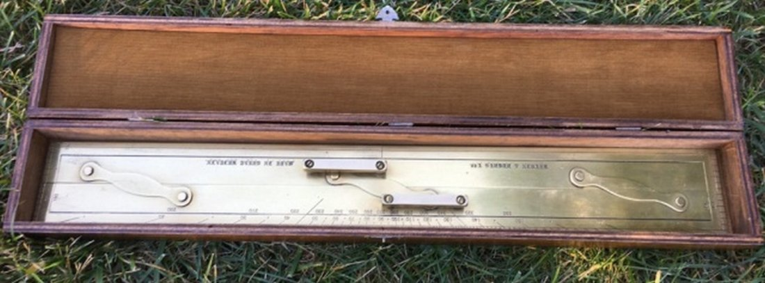 Kelvin & Hughes Ltd. Brass Navigational Ruler