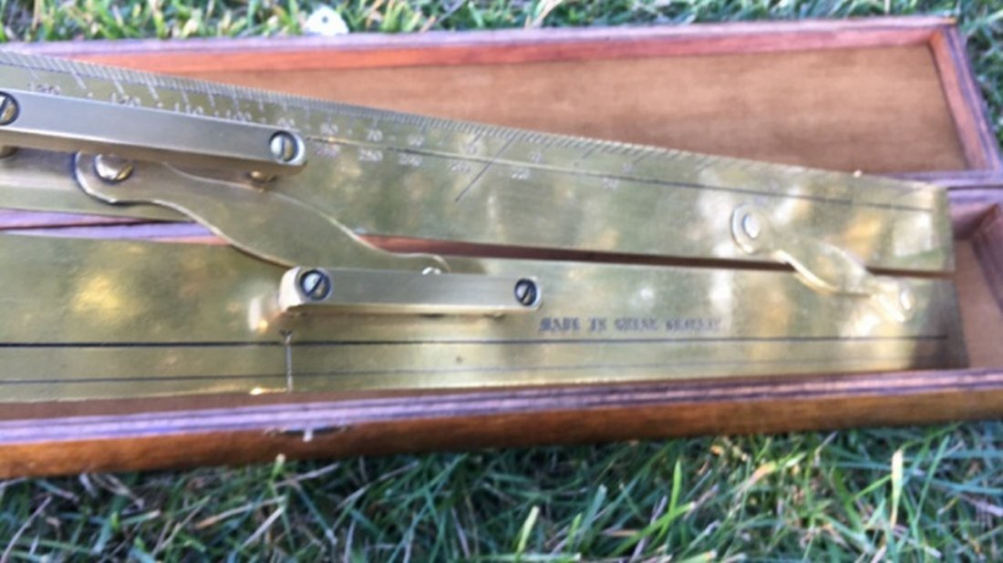 Kelvin & Hughes Ltd. Brass Navigational Ruler - 4