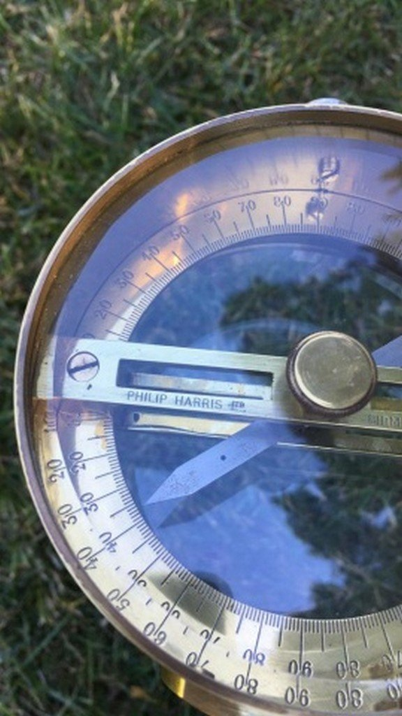 Ant. Philip Harris Ltd. Brass Vertical Compass - 2