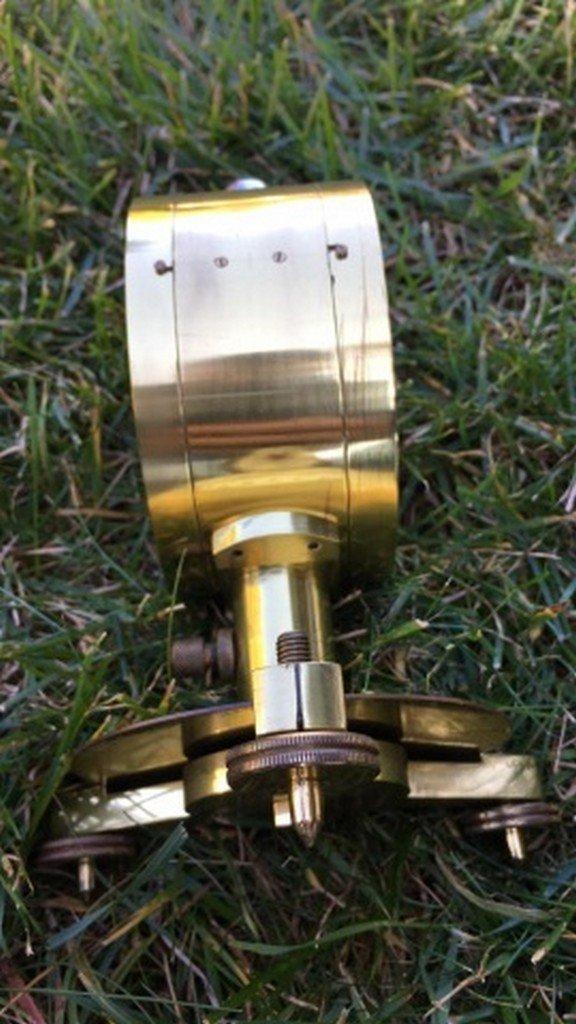 Ant. Philip Harris Ltd. Brass Vertical Compass - 4