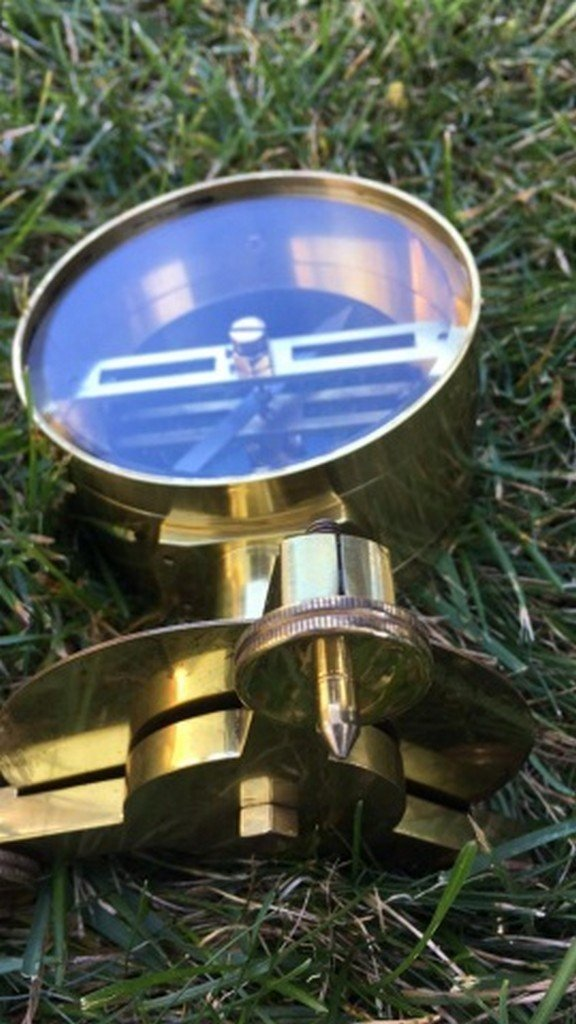 Ant. Philip Harris Ltd. Brass Vertical Compass - 5